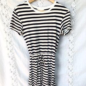 Striped & stretchy beach dress